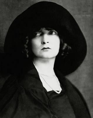 Necklace Photograph - Portrait Of Estelle Winwood by Nicholas Muray