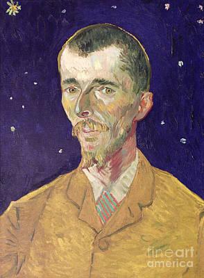 Van Gogh Starry Night Painting - Portrait Of Eugene Boch by Vincent Van Gogh