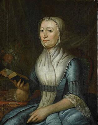 Veer Drawing - Portrait Of Eva Goudriaan-de Veer, Cornelis Van Cuylenburgh by Litz Collection