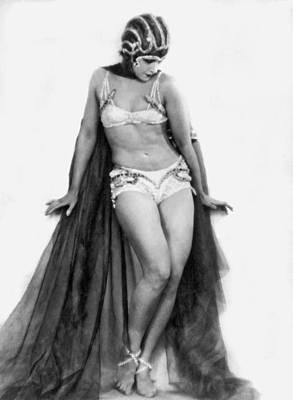 Portrait Of Exotic Dancer Art Print by Underwood Archives