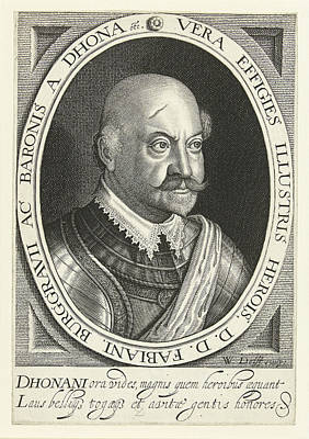 Portrait Of Fabian Von Dohna Art Print by Willem Jacobsz. Delff
