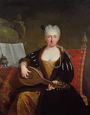 Portrait Of Faustina Bordoni, Handels Singer Print by Bartolommeo Nazari