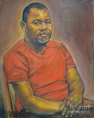 Painting - Portrait Of Felly 2 by Raija Merila