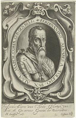 Alvarez Drawing - Portrait Of Ferdinand Alvarez De Toledo, Duke Of Alva by Artokoloro