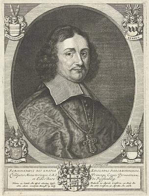 Bishop Drawing - Portrait Of Ferdinand Furstenberg, Prince Bishop by Abraham Bloteling And Baron Von F?rstenberg Theodor Caspar