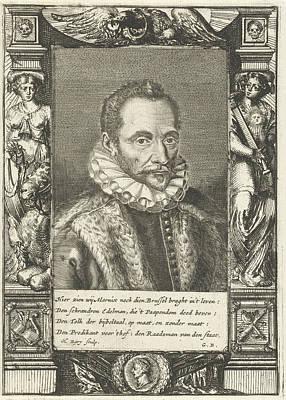 Portrait Of Filips Van Marnix Heer Van St Art Print