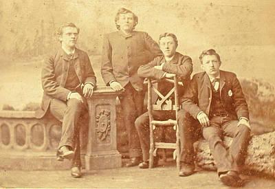 Portrait Of Four Young Men, Albert Greiner Art Print by Artokoloro