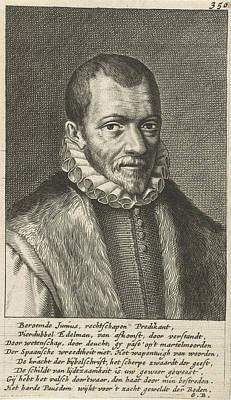Portrait Of Franciscus Junius Art Print by Geeraert Brandt (i)