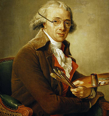 Sit-ins Painting - Portrait Of Francois-andre Vincent by Adelaide Labille-Guiard