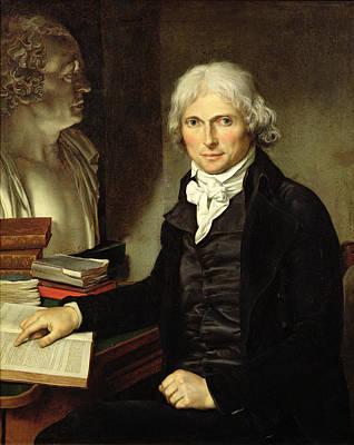 Portrait Of Francois Xavier Bichat 1771-1802 Print by Pierre Maximilien Delafontaine