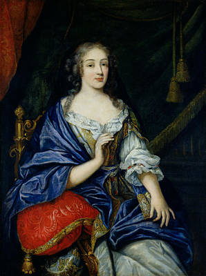 Portrait Of Francoise-louise De La Baume Le Blanc 1644-1710 Duchesse De Vaujour, Called Art Print
