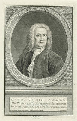 Portrait Of Franois Fagel, Jacob Houbraken Art Print