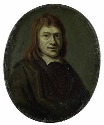 Van Halen Drawing - Portrait Of Frans Van Hoogstraten, Poet And Bookseller by Litz Collection