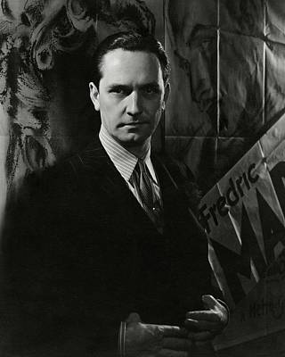 Photograph - Portrait Of Frederic March by Lusha Nelson