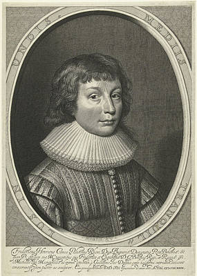 Ruff Drawing - Portrait Of Frederick Henry Of The Palatinate by Willem Jacobsz. Delff