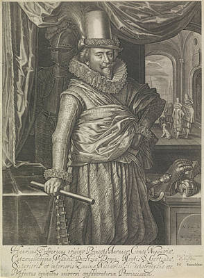 Portrait Of Frederick Henry, Prince Of Orange Art Print by Willem Jacobsz. Delff And Pieter Goos