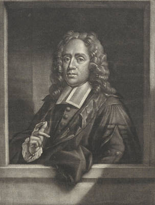 Theology Drawing - Portrait Of Friedrich Adolph Lampe, Print Maker Hendrik by Hendrik Pothoven And Philip Van Dijk