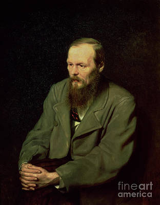 Deep In Thought Painting - Portrait Of Fyodor Dostoyevsky by Vasili Grigorevich Perov