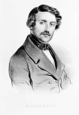 Portrait Of Gaetano Donizetti Italian Print by Carel Christian Anthony Last