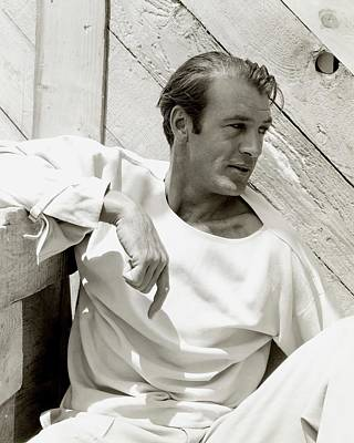 Film Photograph - Portrait Of Gary Cooper by George Hoyningen-Huene