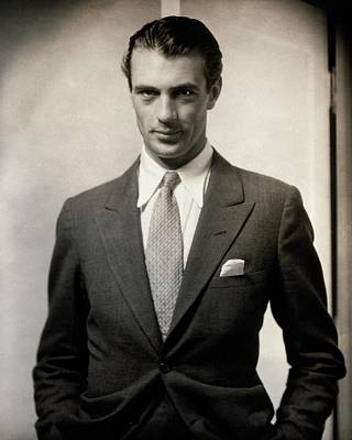 Film Photograph - Portrait Of Gary Cooper Wearing A Suit by Edward Steichen