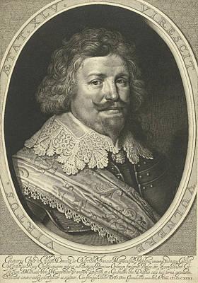 Portrait Of Gaspard De Coligny, Duke Of Chtillon At The Age Art Print by Willem Jacobsz. Delff