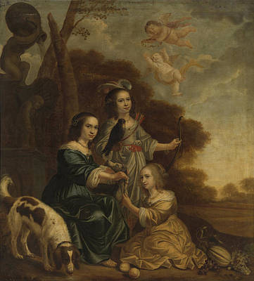 Portrait Of Geertruyt, Margriet And Anna Delff Art Print by Litz Collection