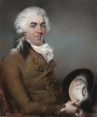 Ligne Drawing - Portrait Of George De Ligne Gregory 1740 - 1822 John Russell by Litz Collection