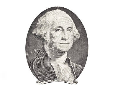 Politicians Royalty-Free and Rights-Managed Images - Portrait of George Washington on White Background by Keith Webber Jr