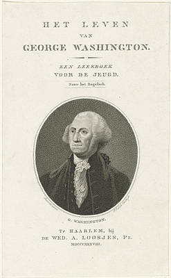 George Washington Drawing - Portrait Of George Washington, Pieter Van Der Meulen by Quint Lox