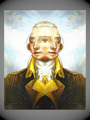 Digital Art - Portrait-of-george Washington Vert  2  by Zac AlleyWalker Lowing