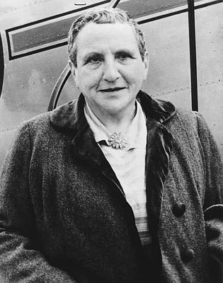 Personalities Photograph - Portrait Of Gertrude Stein by Underwood Archives