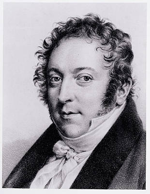 Cravat Drawing - Portrait Of Gioacchino Rossini, Italian by