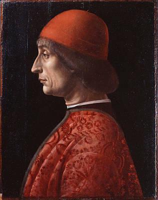Vincenzo Foppa Painting - Portrait Of Giovanni Francesco Brivio by Vincenzo Foppa