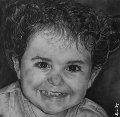 Portrait Of Giulia Art Print by Arual Jay