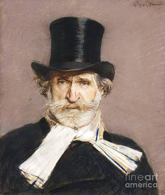 Portrait Of Giuseppe Verdi Art Print