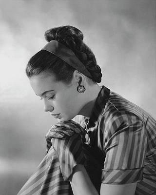Gloria Photograph - Portrait Of Gloria Vanderbilt by Frances Mclaughlin-Gill