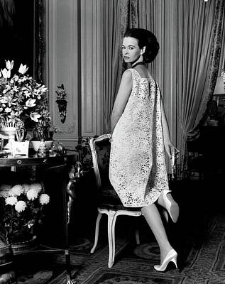 Gloria Photograph - Portrait Of Gloria Vanderbilt by Horst P. Horst