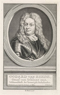 Portrait Of Godard Van Reede, Jacob Houbraken Art Print