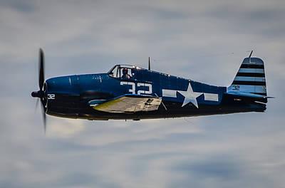 Grumman F6f Hellcat Photograph - Portrait Of Grumman F6f Hellcat by Puget  Exposure