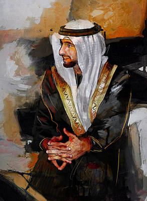 Painting - Portrait Of Hamdan Bin Mohammad Bin Rashid Al Maktoum 2 by Maryam Mughal