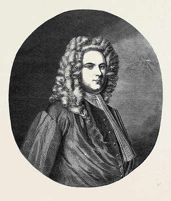Painted Image Drawing - Portrait Of Handel From The Original Painted by English School
