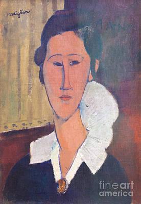 Portrait Of Hanka Zborovska By Amedeo Modigliani Art Print by Roberto Morgenthaler