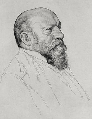 Hungarian Drawing - Portrait Of Hans Richter by William Strang