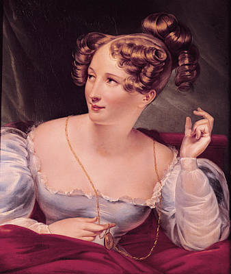 Portrait Of Harriet Smithson 1800-54 Oil On Canvas Art Print by French School
