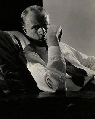 Sinclair Photograph - Portrait Of Harry Sinclair Lewis by Edward Steichen