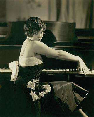 Piano Photograph - Portrait Of Helen Kane by Edward Steichen