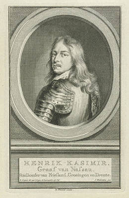 Portrait Of Hendrik Casimir I, Jacob Houbraken Art Print