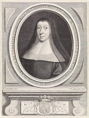 Portrait Of Henriette Of Lorraine, Princess Of Pfalzburg Art Print by Pieter Van Schuppen
