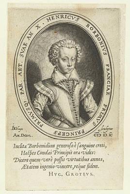 Portrait Of Henry II Of Bourbon, Prince Of Conde Art Print